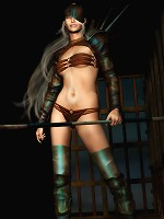 Bitch gets forced to suck sensual Ninja
