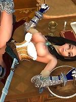 Smokin 3D Peasant girl