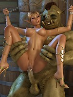 3D librarian with pert breasts grab Hentai Ghoul and cums