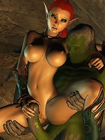 Cock crazed 3D Doll gets hard boned by Toon Orc