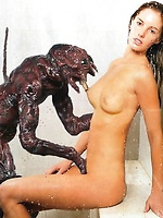 Celebrities fucked hard by monsters