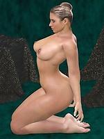 Beautiful nude toon babe posing