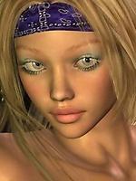 Hot 3D chick Norah showing her beauties