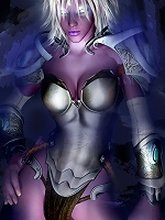 Innocent 3D Elven Priestess gets penetrated