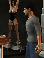 Whore 3D Baby taking face load after her workout