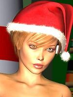 Naughty topless toon santas helper