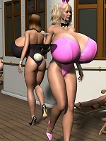 Whore 3D Doxy is drilled by curious 3D Moster