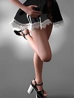 Cute toon teen in maid uniform