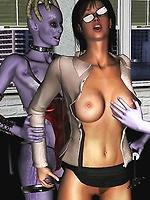 Aliens fuck busty girls