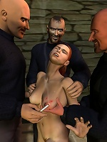 Hot 3D Hussy gets bent over by forest elf